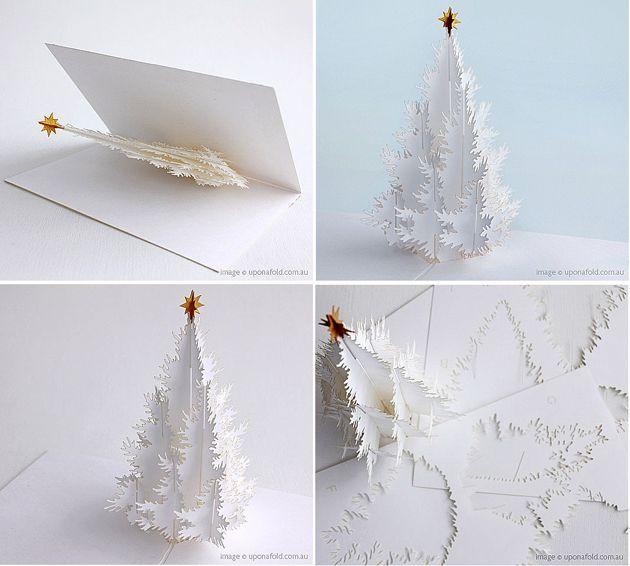 Christmas Tree Card Tutorial Zvezdy Dekoracii Rozhdestvenskaya Bumaga Novogodnie Otkrytki