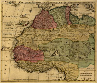 North Africa Antique Map 1742 Royalty Free | Safari Chic Style