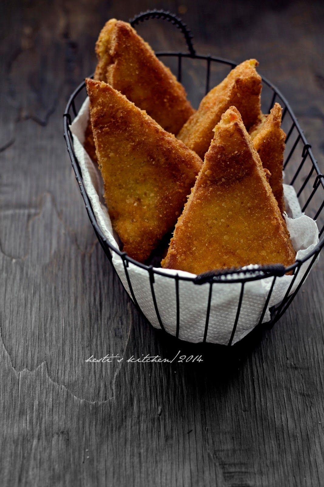 Hesti S Kitchen Yummy For Your Tummy Sandwich Goreng Isi Ragout Ayam Makanan Resep Masakan Resep