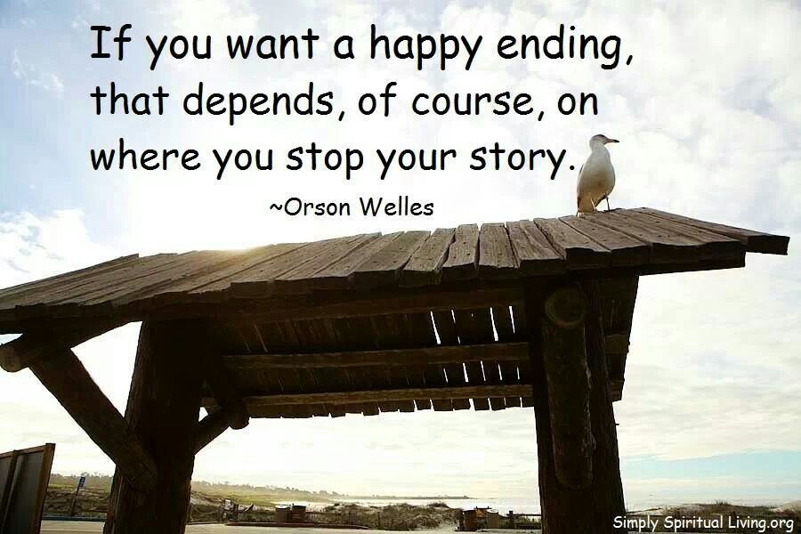 If you want a happy ending...