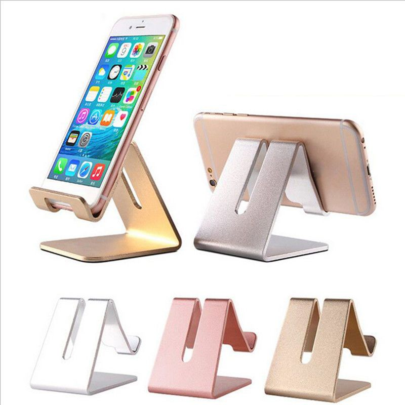 Home Office Desk Desktop Phone Stand Aluminum Holder For Iphone Cellphone Tablet Phone Stand Cell Phone Stand Desk Phone Holder