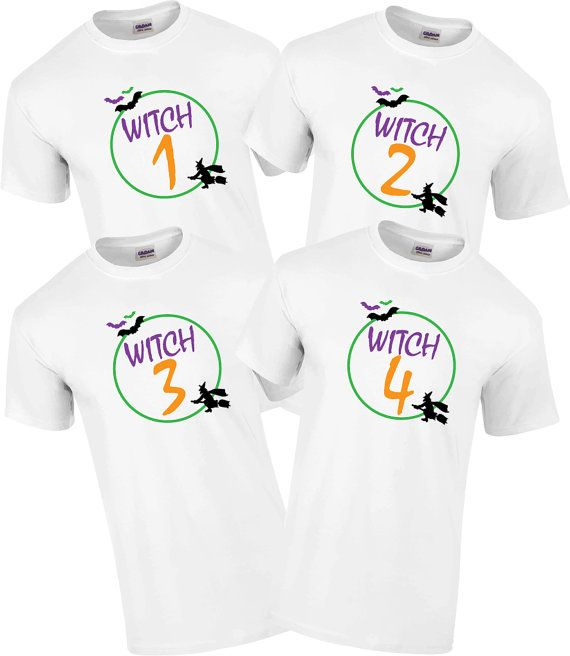 fc0d15b7 Funny group Halloween shirts. Witch 1,2,3,&4. Best friend Halloween  costumes. Halloween shirts. Witch tshirt. Funny shirt. Funny.