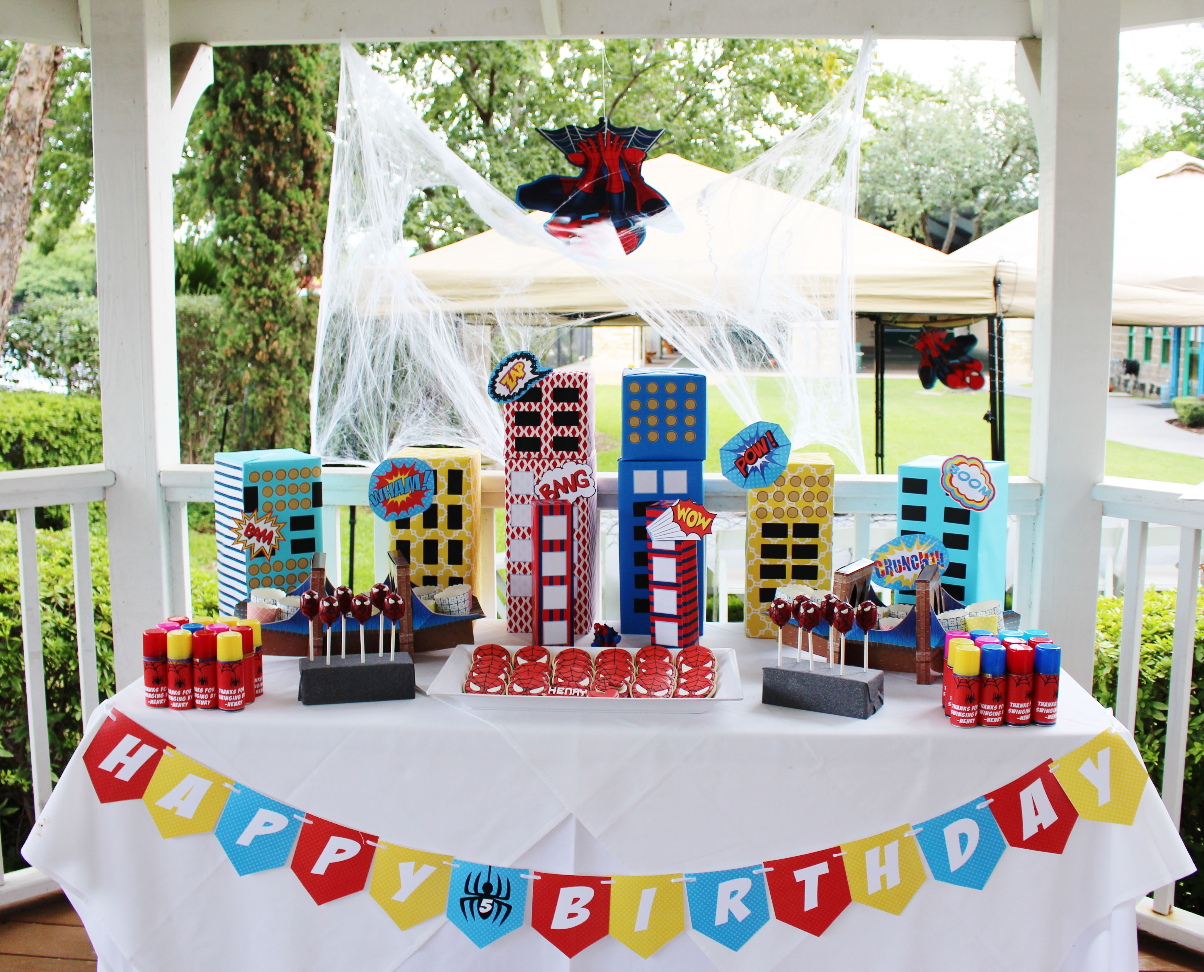 Spiderman birthday party ideas; spiderman party decorations & Spiderman birthday party ideas; spiderman party decorations ...