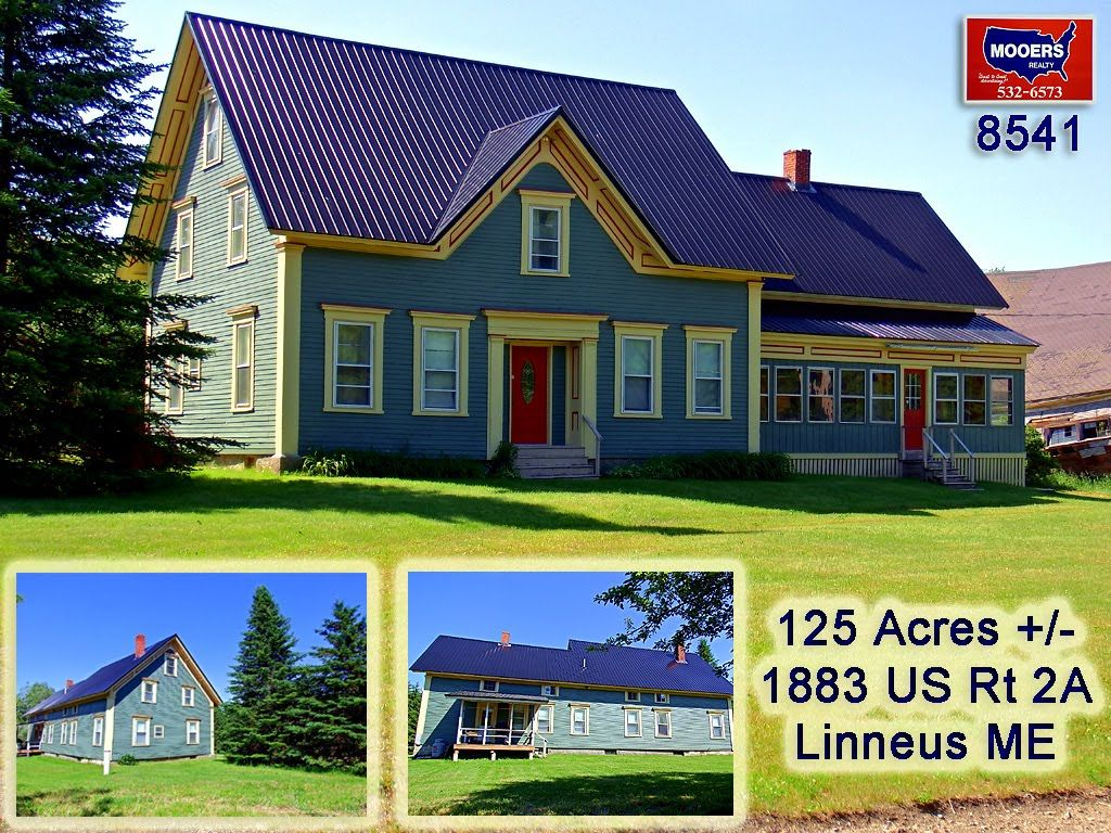 1883 Us Rt 2a Bangor Road Linneus Maine Farm For Sale Mooers 8541 With Images Maine Real Estate Maine Bangor