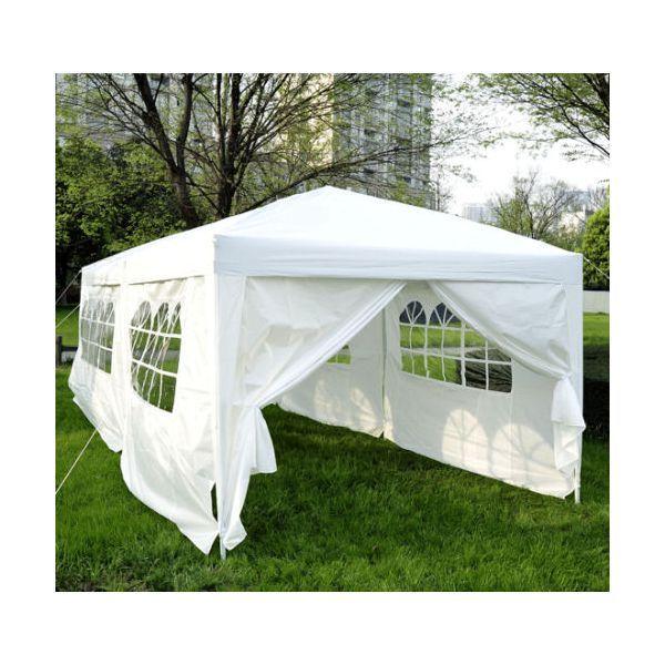 H4home Garden Outdoor Pop Up Gazebo Marquee 6x3 White In