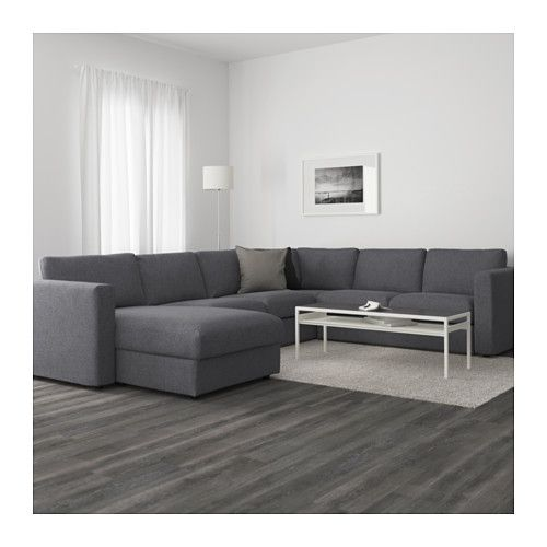 vimle sectional 5 seat corner with chaise gunnared medium gray