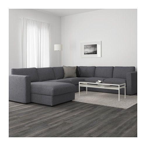 Ecksofa ikea  VIMLE Sectional, 5-seat corner, with chaise, Gunnared medium gray ...