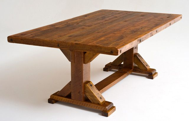 Image For Rustic Reclaimed Wood Dining Table