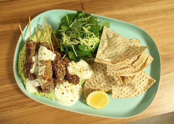 Lamb kofta with pea hummus recipe the cooks pantry by courtney food forumfinder Images