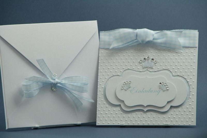 Einladungskarte Prinz, Krone Taufe, Geburtstag
