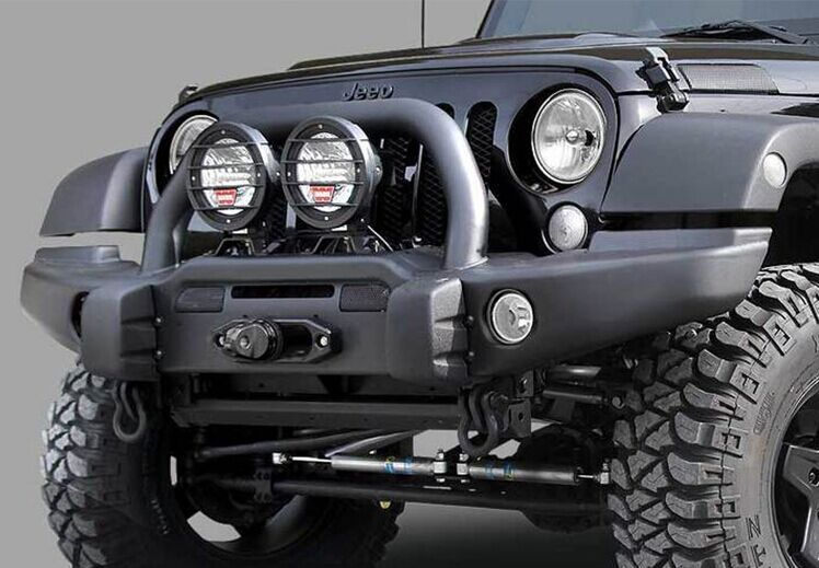 Aev Style Front Bumper With Winch Cradle Bullbar Tow Rings And Fog Light Inserts Jeep Wrangler Front Bumpers Jeep Wrangler Offroad Accessories Parts In In 2020 Jeep