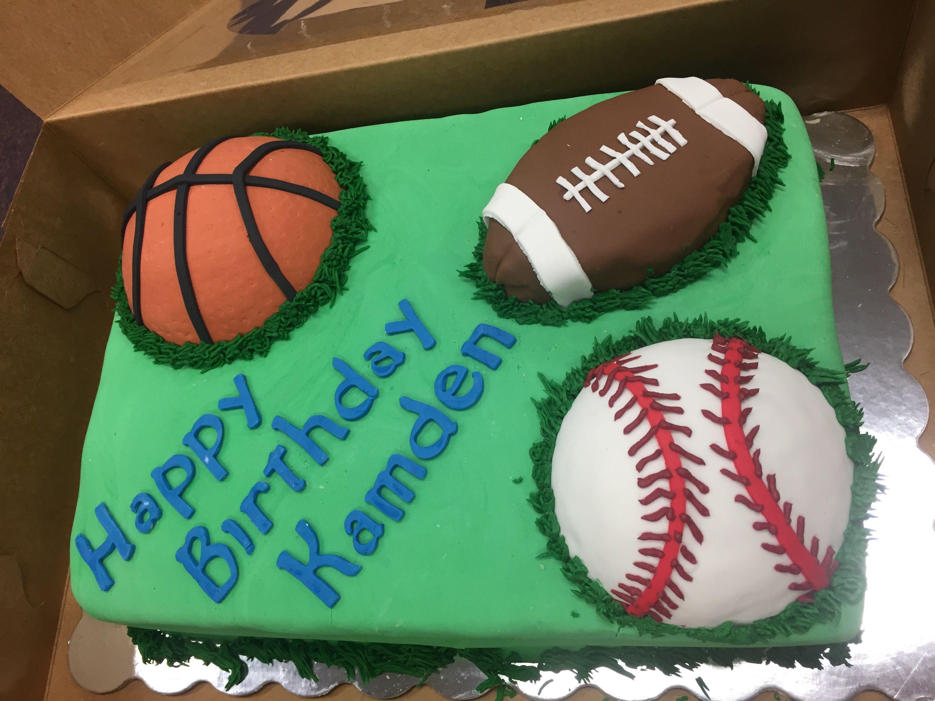 Sports Theme Birthday Cake  Feb. 2017