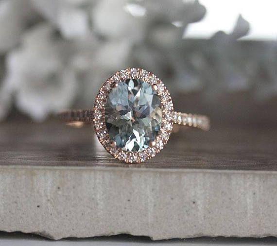 Vintage 925 Argent Ovale Cut Morganite gemme Mariage Bague de fiançailles!!!