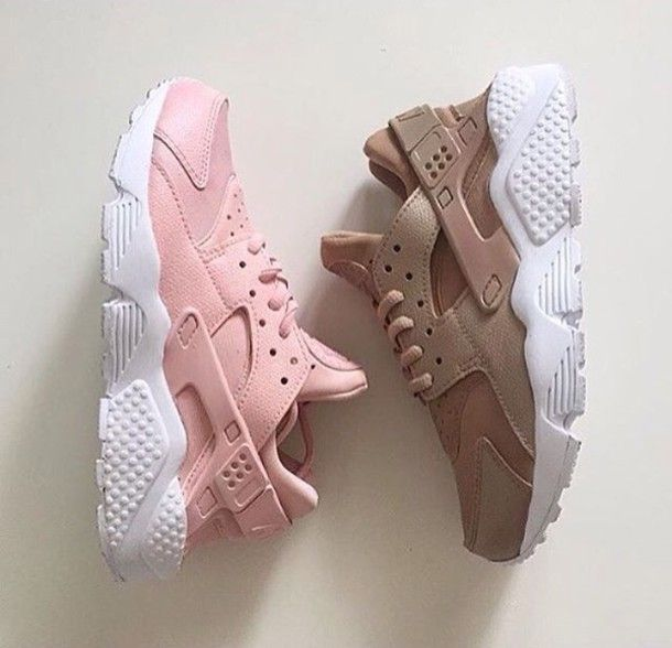 92137bf5a306 nike nike sneakers huarache pastel sneakers nude sneakers pink sneakers shoes  nike air max baby pink nike shoes low top sneakers sneakers girl girly ...