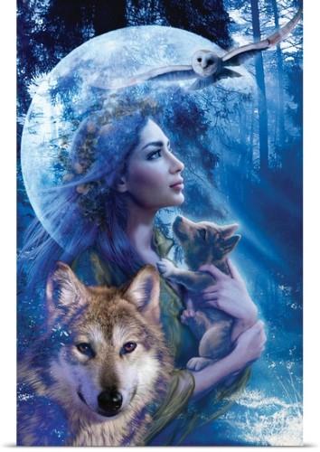 Andrew Farley Poster Print Wall Art Print entitled Moonlit Brethren, None