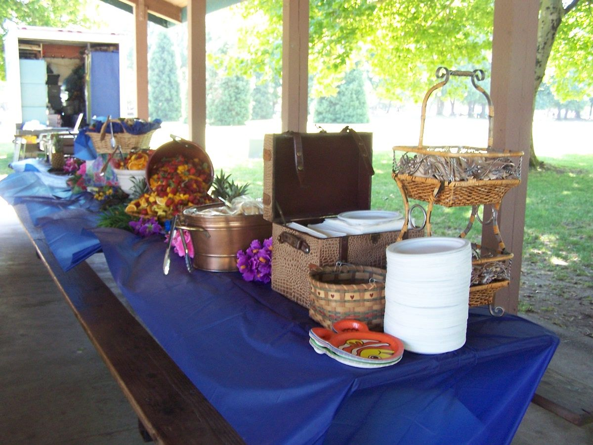 wedding barbeque buffet tables even bbq tables are set up with a