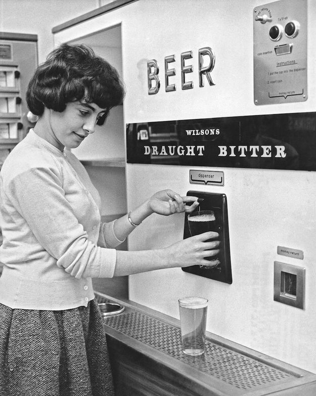 A beer vending machine in the 60s
