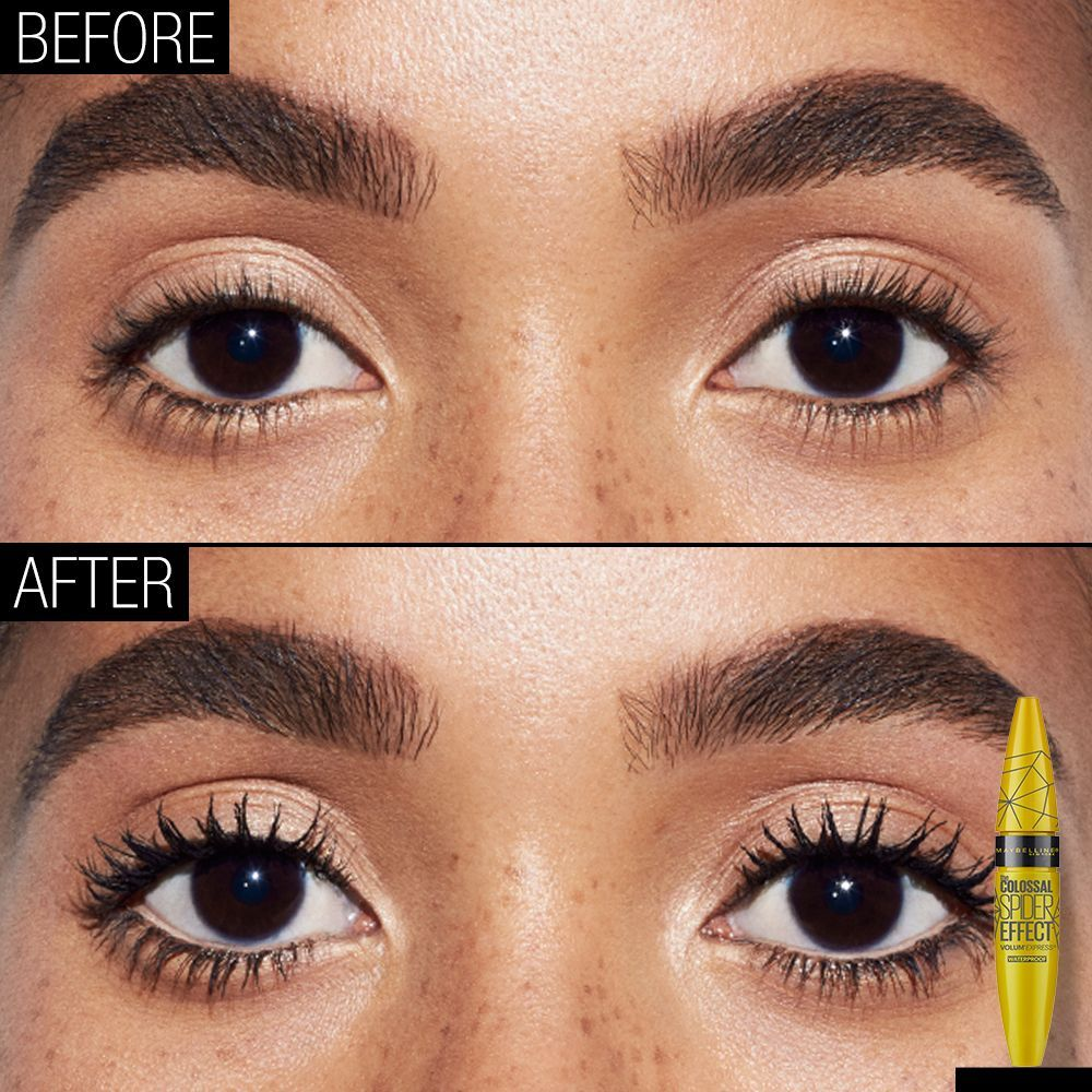 41194866715 ... sculpted lashes can easily be yours with Maybelline Spider Mascara.  This before and after beauty image shows how Spider mascara opens your eyes.
