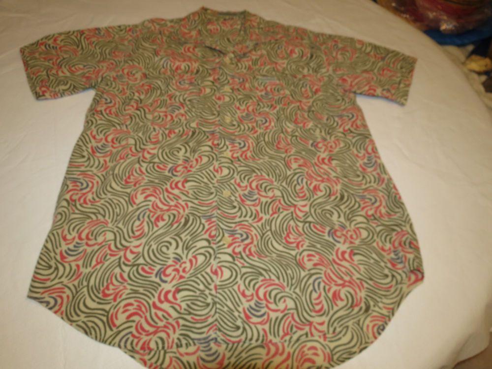 Mens Royal Robins Multi Colors Cotton M Short Sleeve