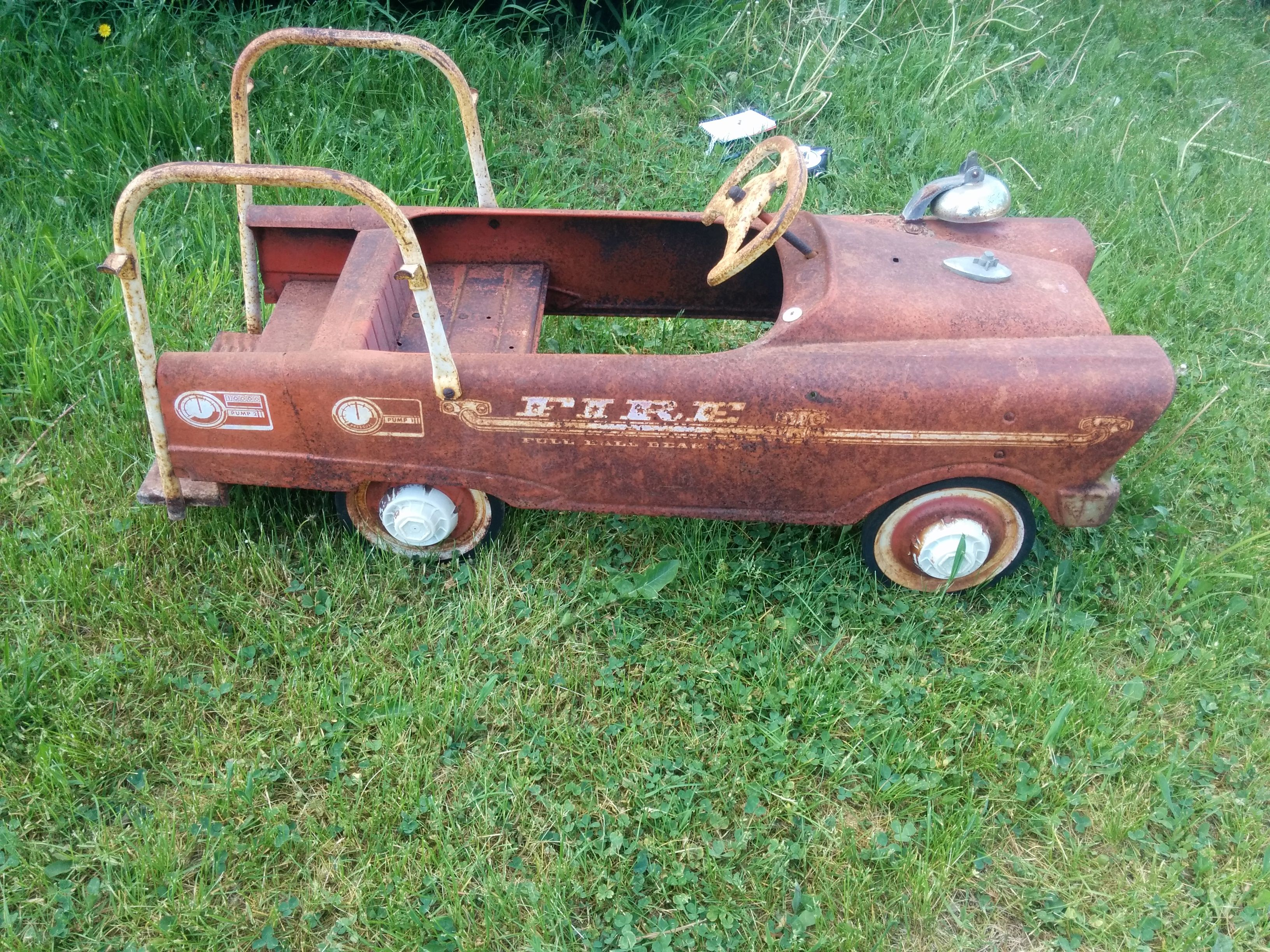 Antique Hook and Ladder Fire Truck Pedal Car $275 | antiques for ...