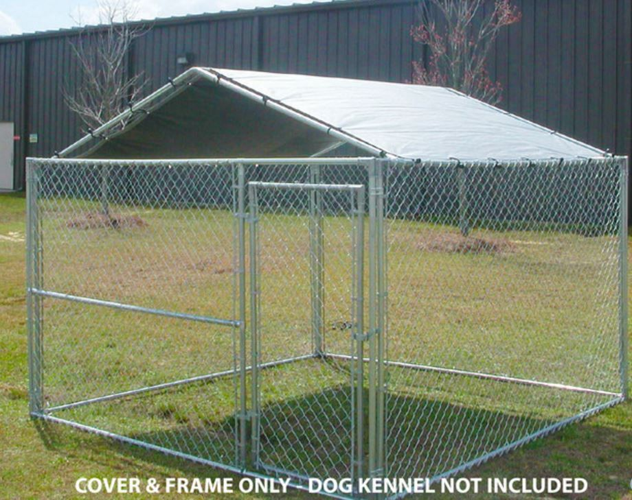 Dog Kennel Cover 10 X 10 Canopy Pet Large House Shade Canopy Cage Crate Roof Kingcanopy Dog Kennel Roof Dog Kennel Outdoor Dog Kennel Cover
