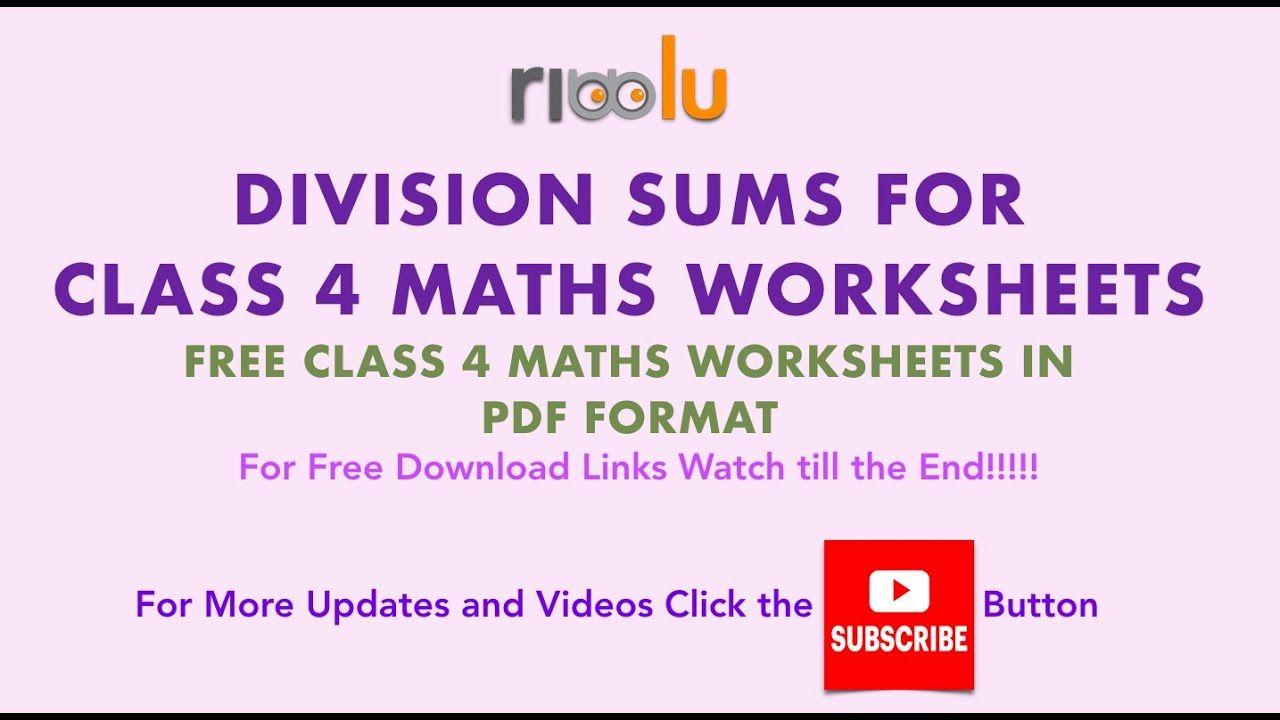Division 4th Class Mathematics Worksheet Maths Grade 4 Kids Mathematics Worksheets Math Class 4 Maths [ 720 x 1280 Pixel ]