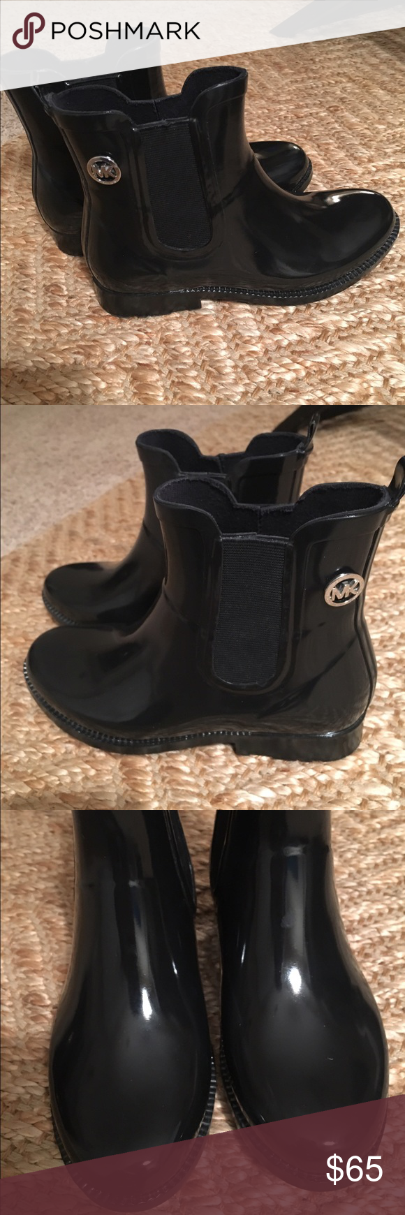 Michael Kors Boots Size 6. Worn once. Mint condition. Silver accent. Michael Kors Shoes Winter & Rain Boots