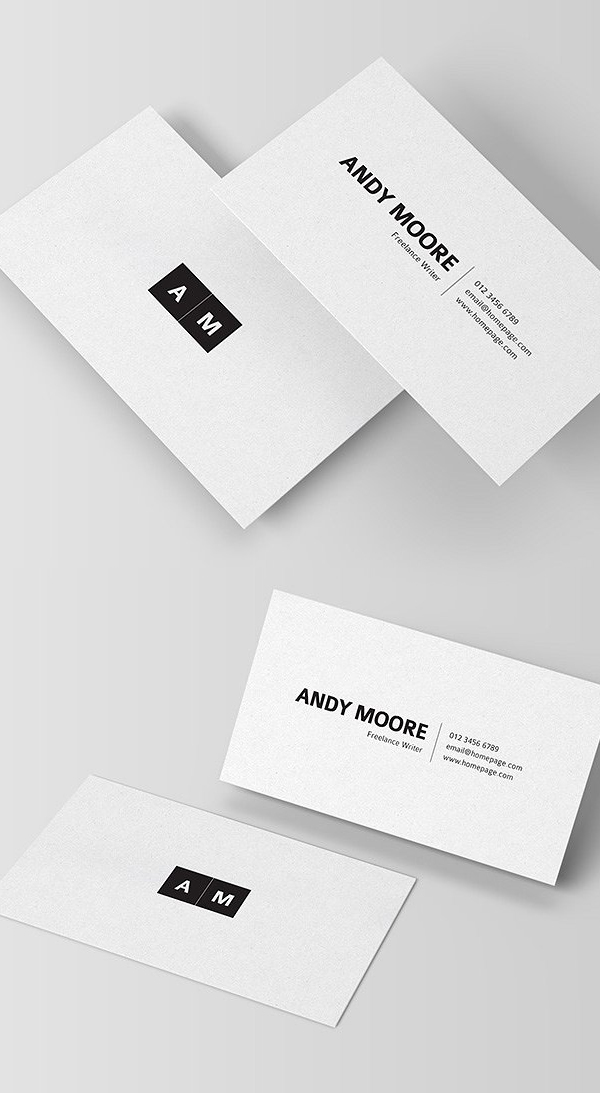 25 Minimal Clean Business Cards Psd Templates Design Graphic Design Junction Freelance Business Card Clean Business Card Design Minimalist Business Cards