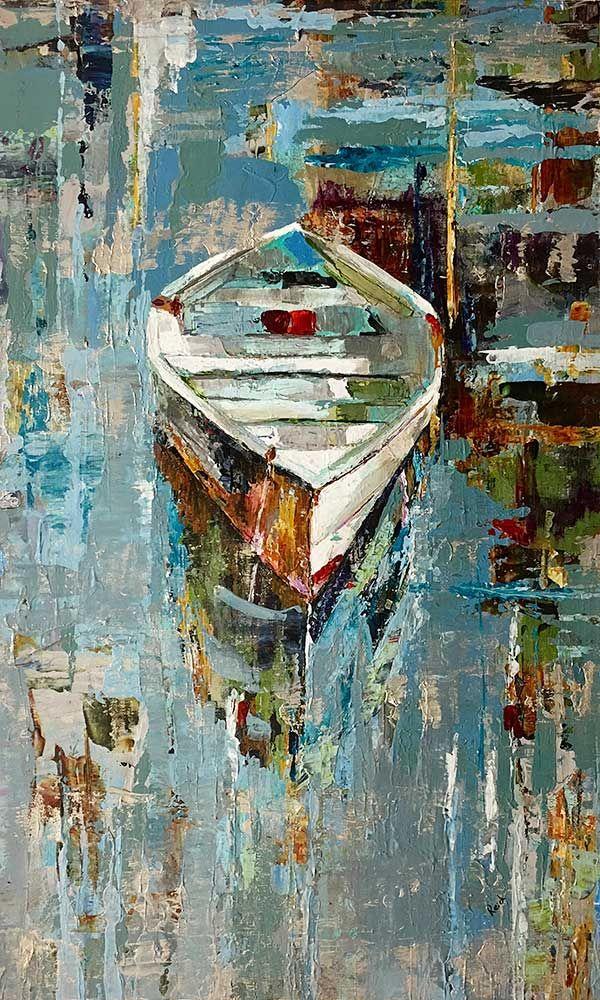 Safe Harbor, 50x30 canvas, Painted by Alexandra Reid, Original Art