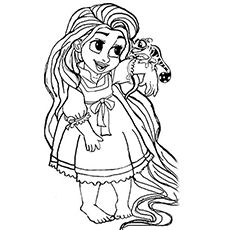 20 beautiful rapunzel coloring pages