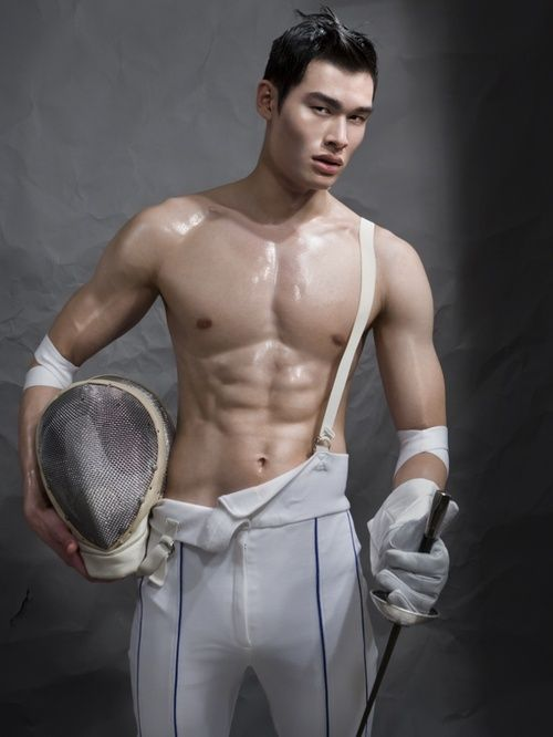 159c07011820 Shirtless Fencer With 6 Pack Abs In Fencing Gear | Hot Fencing ...