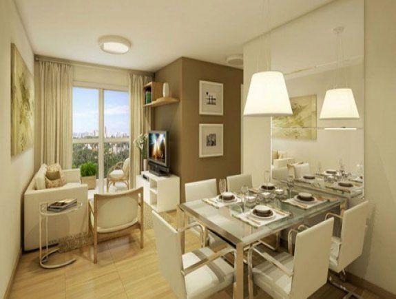 Sala de jantar para apartamento pequeno 5 decora o for Pisos para apartamentos pequenos