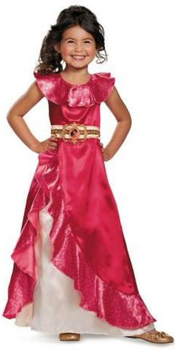 Childs Girl/'s Disney Princess Elena Of Avalor Gown Dress Costume Toddler 3T-4T