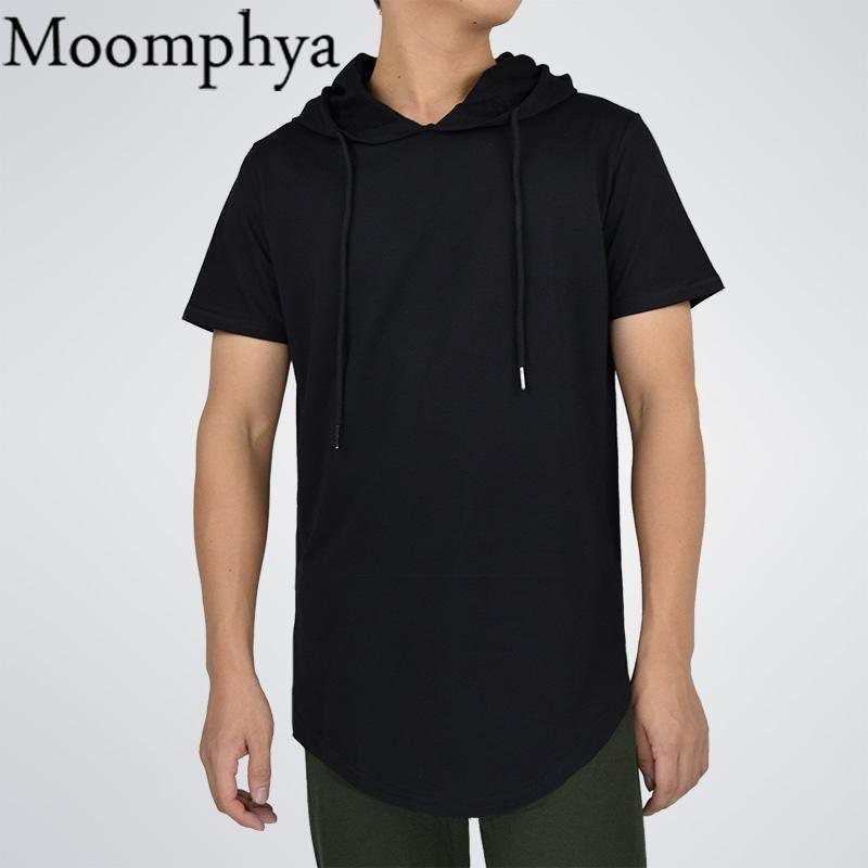 b093b867283 Moomphya Mens Hooded T Shirt Hipster Hip Hop Streetwear T Shirt Men ...