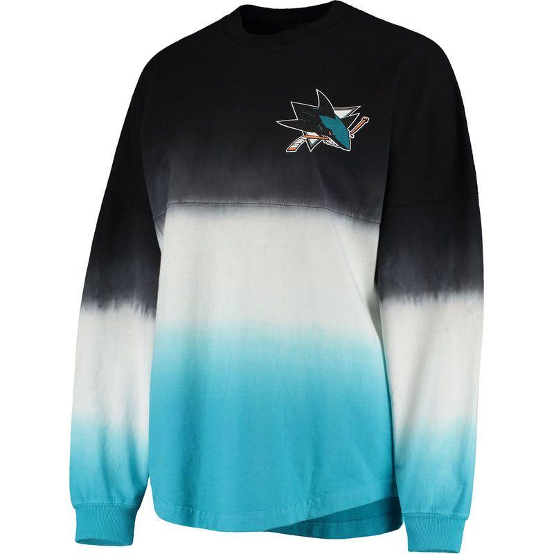 official photos c0591 fd139 San Jose Sharks Fanatics Branded Women's Ombre Spirit Jersey ...