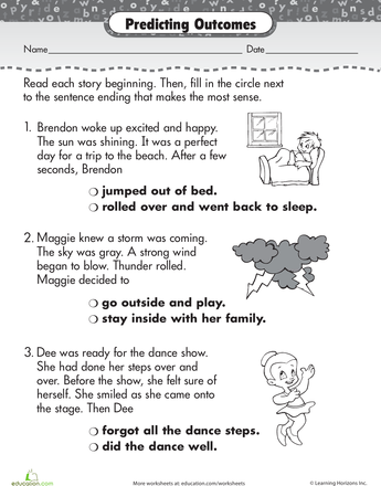 How Does it End? | Reading | Reading comprehension worksheets ...