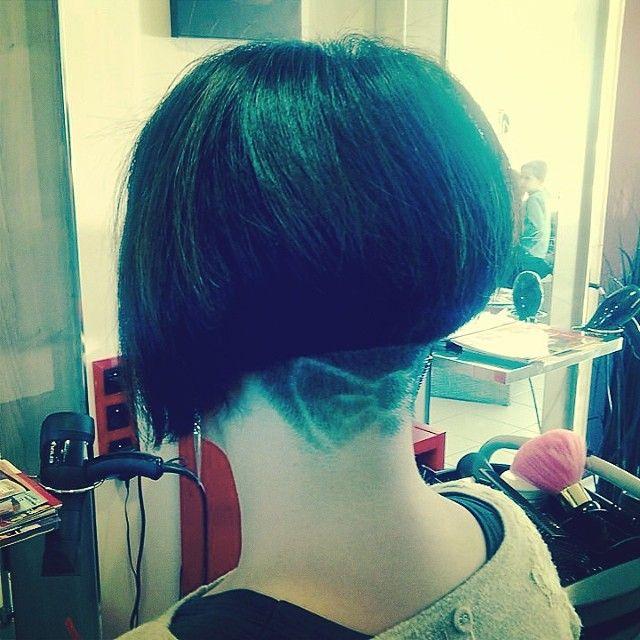 Hello Kitty Bow Undercut Hair Beauty Dyed Hair Hair Styles
