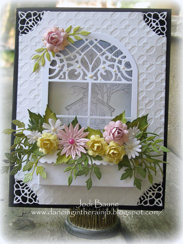 Открытка в виде окна скрапбукинг, днем рождения женщине