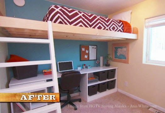 Ana White Build A Loft Bed As Seen On Hgtv Saving Alaska