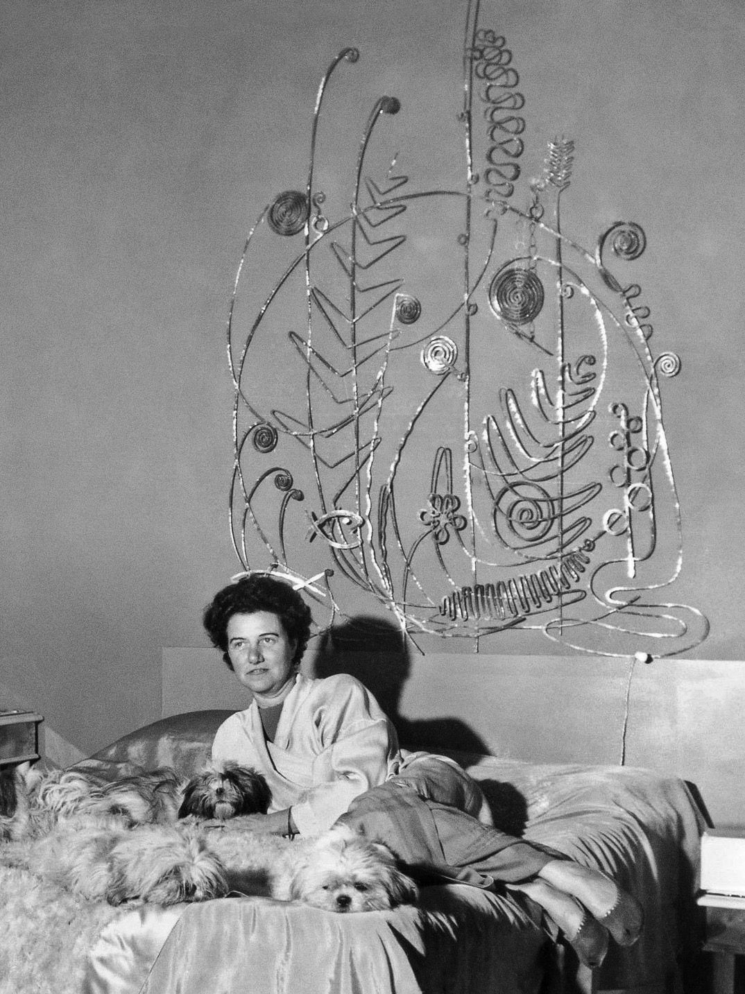 ALEXANDER CALDER, Silver Bed Head board