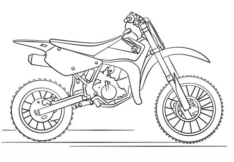 Moto de trial de Suzuki Dibujo para colorear | Motos | Suzuki dirt