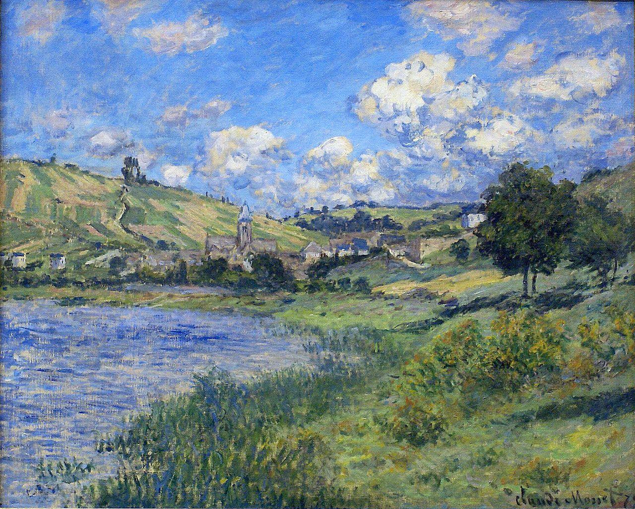 Claude Monet — Vetheuil, Paysage, 1879, Claude Monet | Claude monet  paintings, Monet art, Claude monet