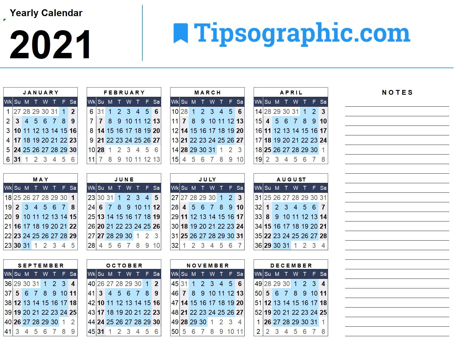 I just downloaded a simple free 20 Yearly Calendar with Week ...