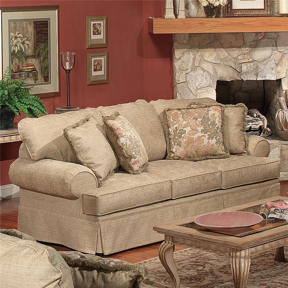 4670 Traditional Sofa By Craftmaster Wolf Furniture