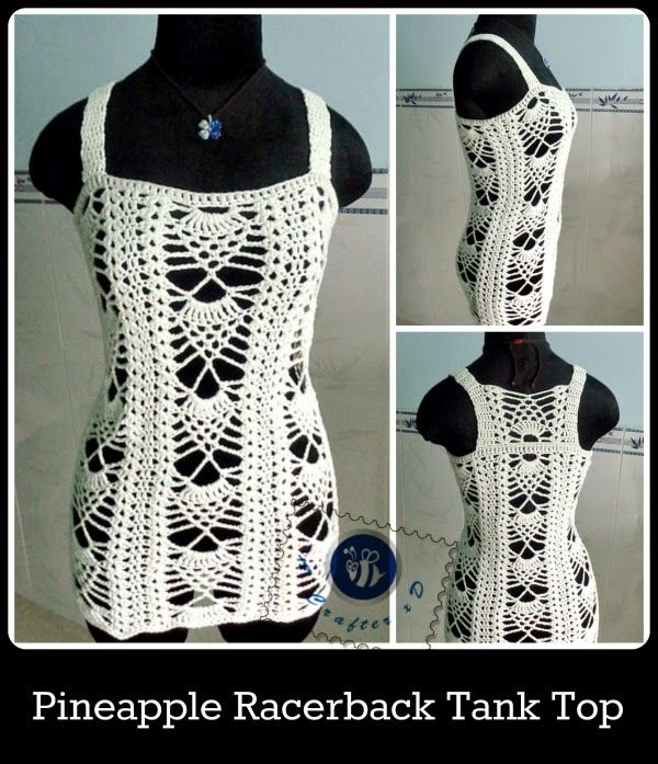 Pineapple Pattern Tank Top | Blusas, Blusas tejidas y Tejido