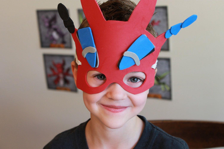 Dragon Mask PDF Instant Downlaod Pattern #dragonparty #dragonmask #kidscraft