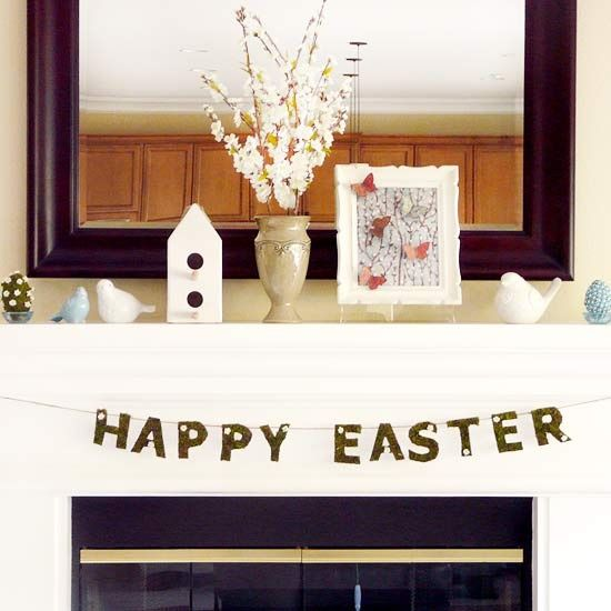 Decoration Decorating Easter Eggs On Decorating Mantels Modern