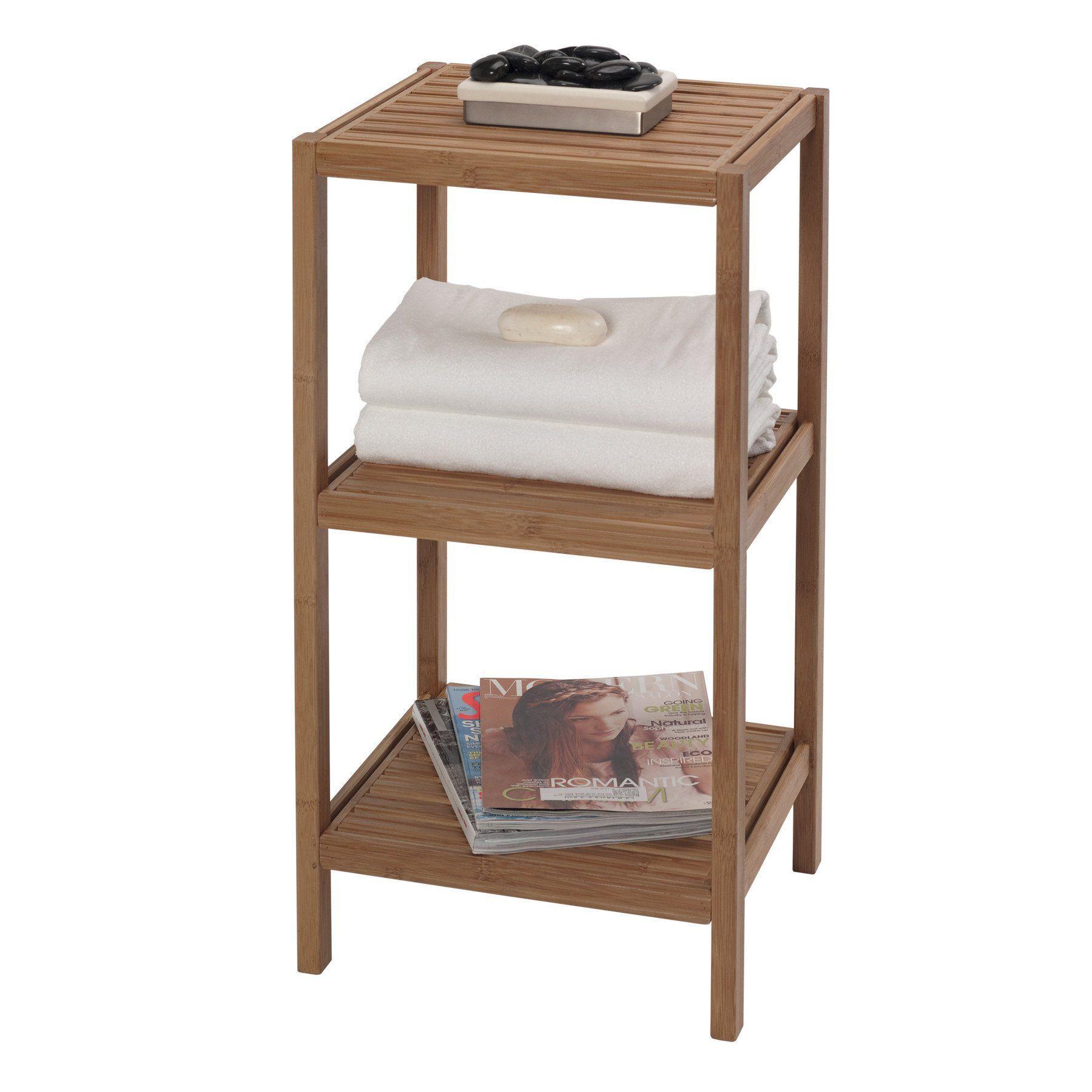 Bamboo bathroom shelf unit - Bamboo Bathroom Shelf Unit