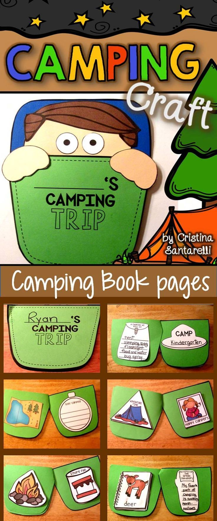 Camping craftivity   Camping activities for kids, Camping ...
