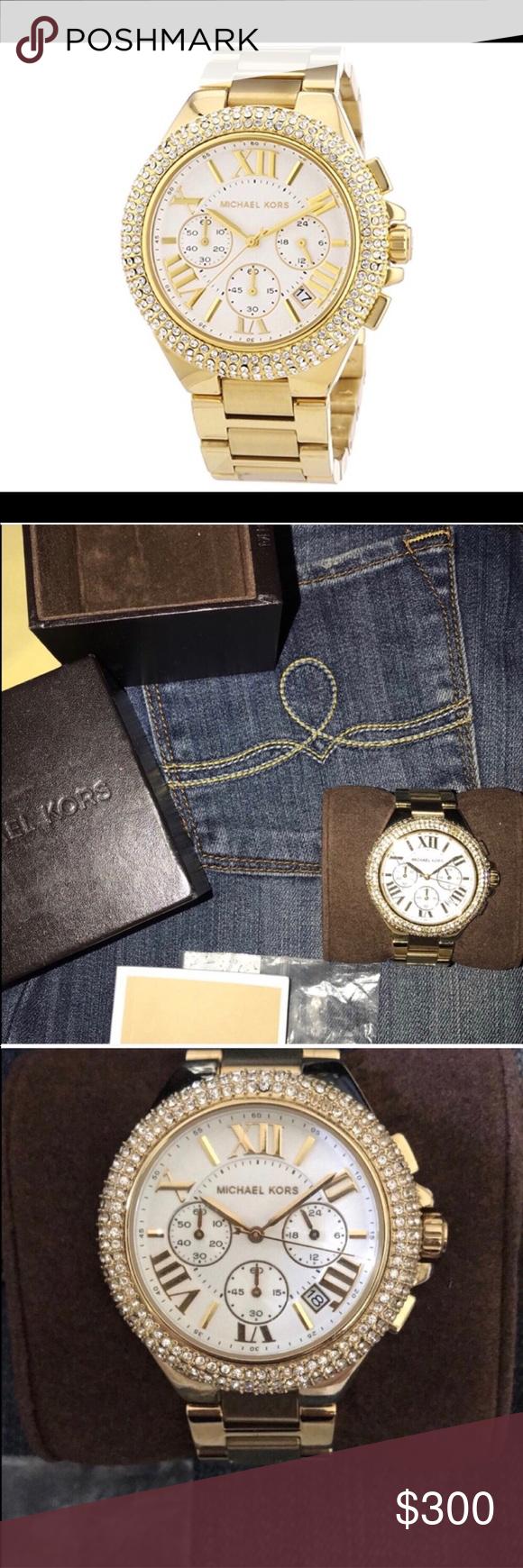 d770a2576b22 Michael Kors MK5756 Women s Camille Gold Watch ✨ Pre Loved Michael Kors  MK5756 Women s Camille Gold